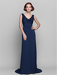 Sheath / Column Apple / Hourglass / Inverted Triangle / Pear / Rectangle / Plus Size / Petite / Misses Mother of the Bride DressSweep /