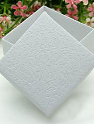 elegantes relieve las cajas del favor sqaure - conjunto de 12