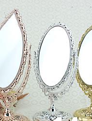 "8 ""H Retro Style Oval Tabletop Espelho Europeia"