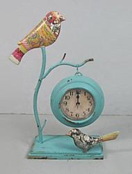 "13 ""Tipo Verde Metal sobremesa Reloj Retro"