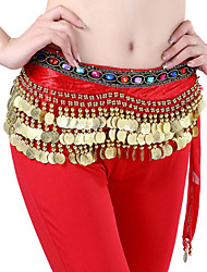 Belly Dance Belt Women's Beading Coins Sequins