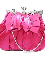 Attraktive Seide mit Rose Blume Kupplungen / Abend Handtaschen (weitere Farben)