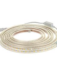 Лента светодиодная водонепроницаемая гибкая длиной 5 м. 300x5050SMD 3000K, теплый белый свет, с разъемом (220V)