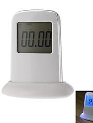 """2.5 """"Нажмите Изменение цвета панели ЖК-цифровой будильник с термометром, вечный календарь и функцией повтора (белый, 3xAA)"""