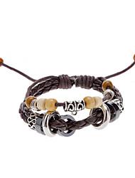 Unisex Fabric Leather Bracelet
