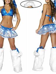Blue Stars Sexy Lady Frauen Weihnachts-Kostüm