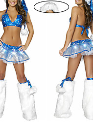 Blue Stars Sexy Lady Women's Christmas Costume