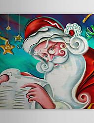 Christmas Holiday Gift Oil Painting Christmas Father Ready to Hang