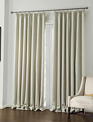 (Two Panels) Embossed Elegent Floral Neoclassical Blackout Curtain