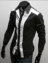 L'épissage de vska Men Fit shirt manches longues