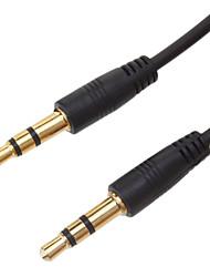 3.5mm macho a macho Cable Audio Primavera Negro (1M)