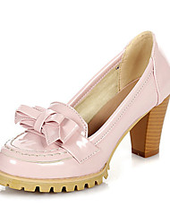 Lackleder Chunky Heel Pumps (weitere Farben)