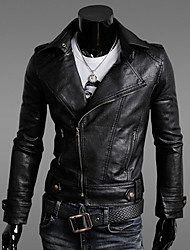 Kailuo Refined Motorcycle Leather Jacket(Black)