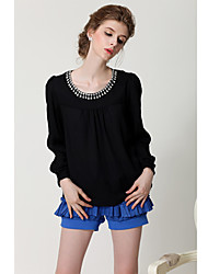 Women's Tops & Blouses , Polyester Casual SIPAIYA