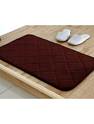 Bath Mat Memory Foam Brown Diamond 20 x 31""