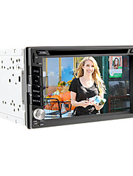 6.2inch Universal 2 DIN no painel do carro DVD player com GPS, BT, IPOD, TV, RDS, tela de toque