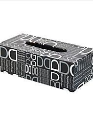 Gris Lettre D Tissue Box