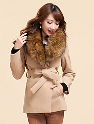Women's Coats & Jackets , Polyester/Wool Casual SPGIRL