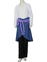 Inspired by Naruto Sasuke Uchiha Anime Cosplay Costumes Cosplay Suits Patchwork Black / Blue / Purple Long SleeveCoat / Pants / Gloves /