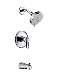 Contemporaneo Tre fori finitura cromata rubinetto doccia