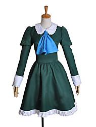 Inspirado por Fantasias Mary Vídeo Jogo Fantasias de Cosplay Ternos de Cosplay / Vestidos Patchwork Verde Manga Comprida Vestido