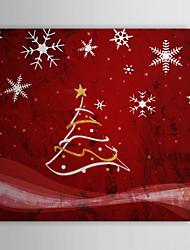 iarts®christmas olio regalo di festa pittura albero di Natale fiocco di neve pronta per essere appesa