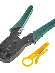 Dual-Modular Plug Crimps, Strips, and Cuts Tool with Ratchet [HT-500R]