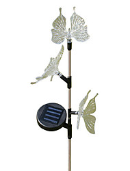 Solar Power RGB Garden Light Lamp papillon