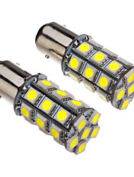 1157 4W 27x5050SMD 330-360LM 6000-6500K Luz Cool White LED Bulb para carro (12V)