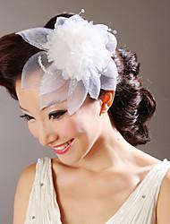 Fiori tulle con copricapo da sposa di cristallo (altri colori)