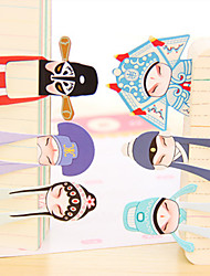 Classical Beijing Opera Mini Papel Bookmark (7pcs)
