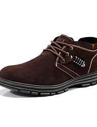 Guciheaven Men's Fashion Leather Suede Shoes(Coffee)