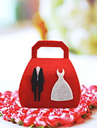 """Wedding Dress"" Red Vlies Hochzeit Candy Bag - von 12 Stellen"