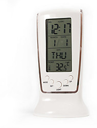 "5 ""LED Gyrophare Alarme Weather Clock"