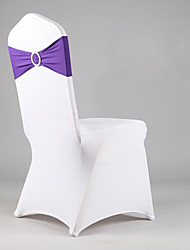 Spandex Chair Sashes With Circle Ring - Set of 12 (More Colors)