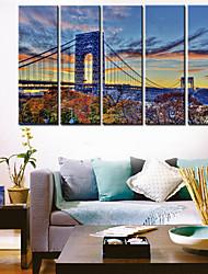 Stampa trasferimenti su tela Arte Architettura Great Bridge Set di 5
