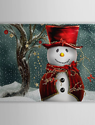 Canvas Art feriado do Natal boneco de neve