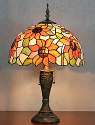 Table Lamp, 2 Light, Tiffany Resin Glass Painting