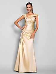 A-line Floor-length Taffeta Evening/Prom Dress (605470)