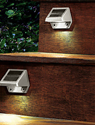 4-LED Outdoor Solar Powered parede Stairway Quintal Jardim Fence Spot Light