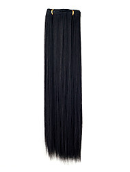 Kanekalon 7-Schicht 55-Zentimeter-Hetero-Clip in Haarverlängerungen (Schwarz)