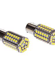 2st 1156 4W 80x3528SMD 150-200lm 6000K Cool White Light LED Corn Bulb (12V)