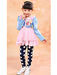 Girl's Dress,Floral Denim Winter