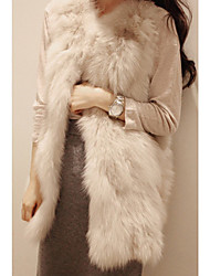 Fur Vest With Nice Sleeveless Collarless In Faux Fur Party/Casual Vest(More Colors)