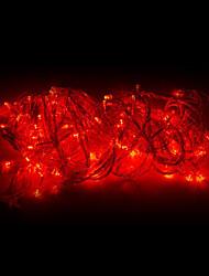 10M 100 LED lumière rouge LED Décoration de Noël Guirlande lumineuse (220)