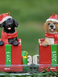 Cute Labrador Decorative Ornament Christmas Gift for Pet Lovers (Random Color)