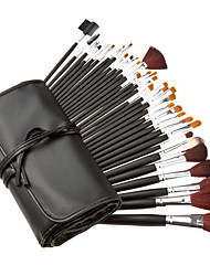 COLORDATE 34Pcs Professional Cosmetic Brush With Free Leather Case  TS34001