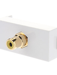 Keystone Jack modulaire RCA Blanc White Center