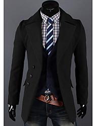 Simple solapa Cuello Tweed Escudo Negro Wmnz Hombres