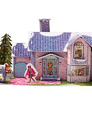 High Class Mini Purple House Shape Puzzles